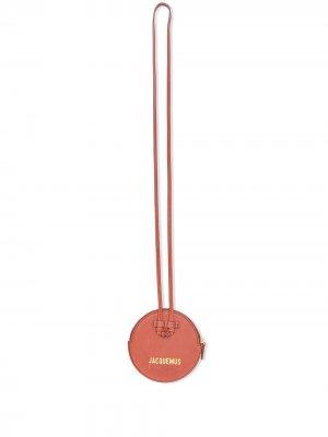 Кошелек Le Pitchou с ремешком Jacquemus. Цвет: красный