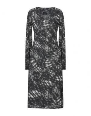 Платье до колена ISABEL DE PEDRO. Цвет: свинцово-серый