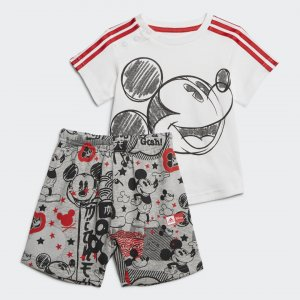 Комплект: футболка и шорты Mickey Mouse Performance adidas. Цвет: красный