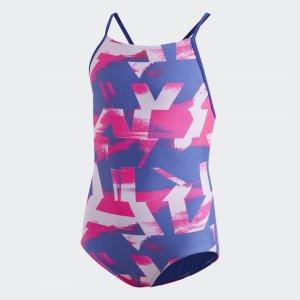 Слитный купальник Allover Print Performance adidas. Цвет: синий