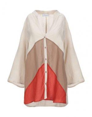 Pубашка FEDORA. Цвет: бежевый