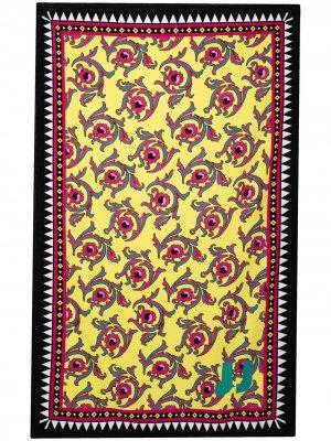 Пляжное полотенце с цветочным принтом La DoubleJ. Цвет: желтый