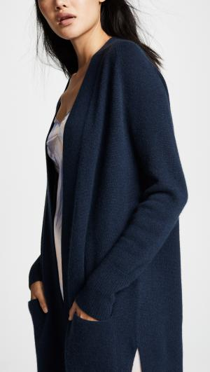 Maxi Open Cashmere Cardigan Autumn