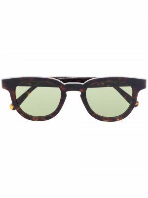 Солнцезащитные очки Certo Retrosuperfuture. Цвет: коричневый