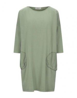 Короткое платье MAMA B.. Цвет: зеленый-милитари