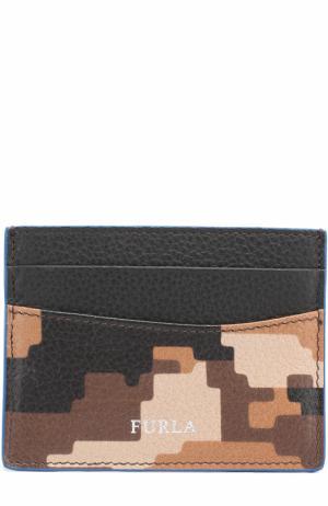 Кожаный футляр для кредитных карт Furla. Цвет: светло-коричневый