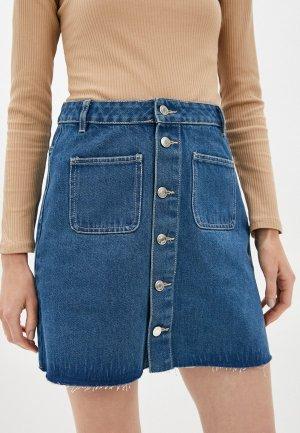 Юбка джинсовая Concept Club. Цвет: синий