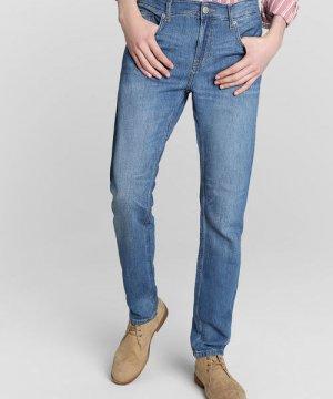 Зауженные джинсы изо льна O`Stin. Цвет: голубой