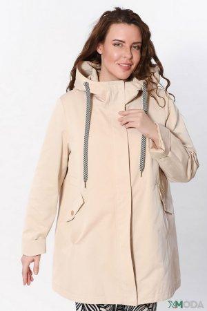 Куртка Elena Miro. Цвет: бежевый