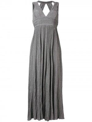 Вязаное платье с V-образным вырезом Antonino Valenti. Цвет: серый