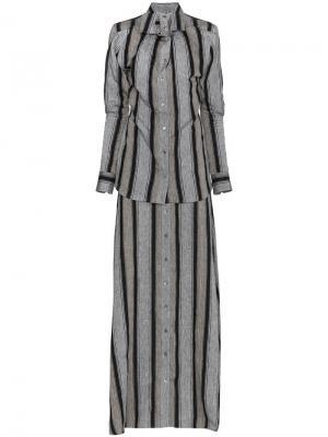 Длинное платье в полоску Y/Project