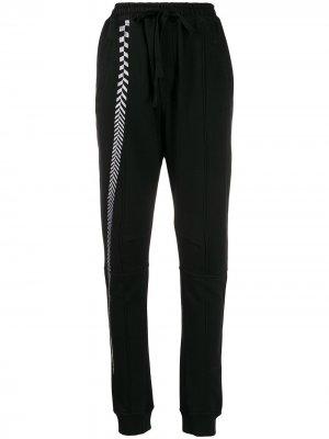 Спортивные брюки с вышивкой Haider Ackermann. Цвет: черный