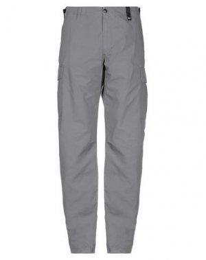 Повседневные брюки LOREAK MENDIAN. Цвет: серый