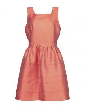 Короткое платье NOLITA. Цвет: оранжевый