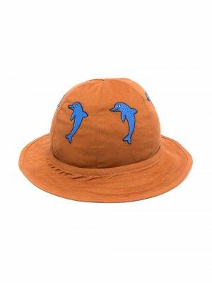 Шляпа с аппликацией Mini Rodini. Цвет: коричневый