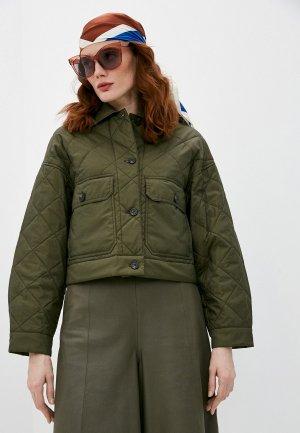 Куртка утепленная Weekend Max Mara PALMAS. Цвет: хаки