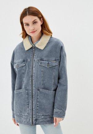 Куртка джинсовая Billabong LOVELY CORD. Цвет: синий