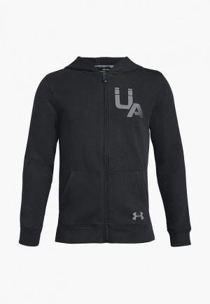 Толстовка Under Armour Rival Logo Full Zip. Цвет: черный