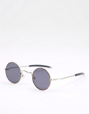 Круглые солнцезащитные очки в стиле унисекс с черными стеклами черепаховой оправе Chemistry-Коричневый цвет Spitfire