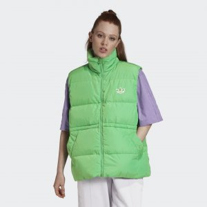 Пуховый жилет Originals adidas. Цвет: зеленый