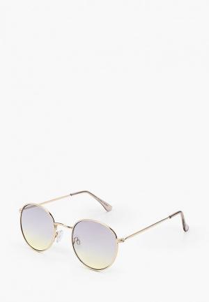 Очки солнцезащитные Topman. Цвет: золотой