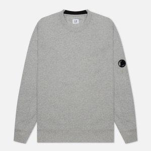 Мужская толстовка Diagonal Raised Fleece Crew Neck C.P. Company. Цвет: серый