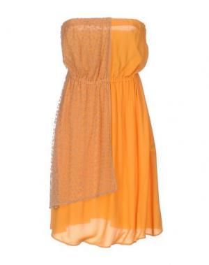Короткое платье ALYSI. Цвет: оранжевый