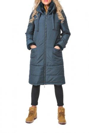 Пальто DizzyWay. Цвет: сине-зеленый