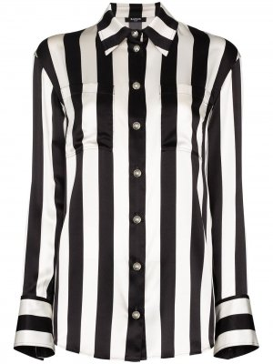Striped silk shirt Balmain. Цвет: черный