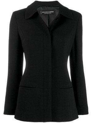 Куртка на пуговицах Jean Louis Scherrer Pre-Owned. Цвет: черный