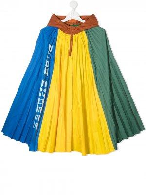 Куртка в стиле колор-блок со складками Bobo Choses. Цвет: желтый