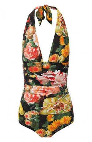 Слитный купальник Dolce & Gabbana. Цвет: разноцветный