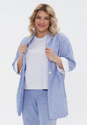 Жакет Luxury Plus. Цвет: голубой