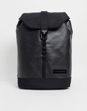 Черный рюкзак с плоским верхом Calvin Klein Jeans