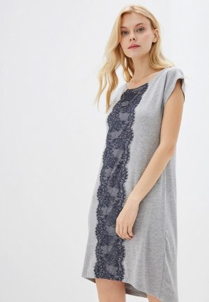 Платье домашнее Агапэ. Цвет: серый
