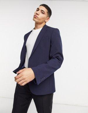 Темно-синий зауженный пиджак Bolongaro Trevor