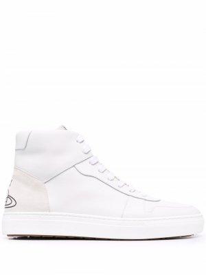 Кеды на шнуровке с принтом Orb Vivienne Westwood. Цвет: белый