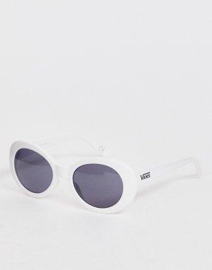 Круглые солнцезащитные очки в белой оправе -Белый Vans
