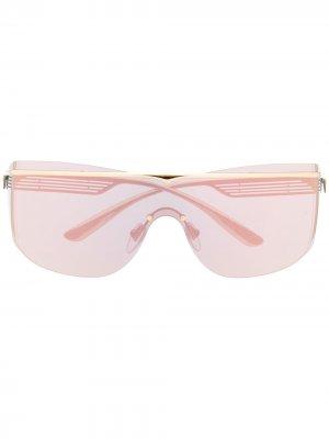 Солнцезащитные очки-авиаторы с затемненными линзами Bvlgari. Цвет: золотистый