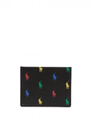 Картхолдер с логотипом Polo Ralph Lauren. Цвет: черный