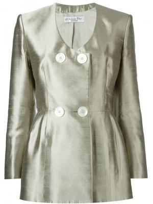Двубортный пиджак Christian Dior Pre-Owned. Цвет: золотистый