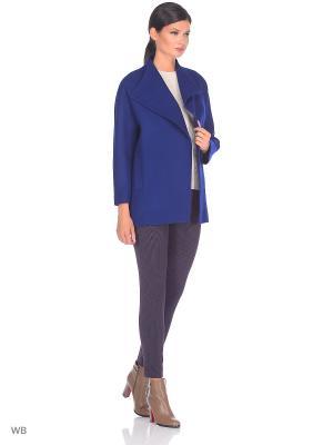 Пальто Amulet. Цвет: синий