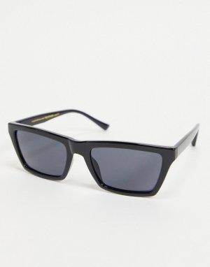 Квадратные солнцезащитные очки черного цвета в стиле унисекс Clay-Черный цвет A.Kjaerbede
