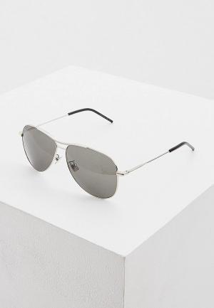 Очки солнцезащитные Saint Laurent CLASSIC 11 BLONDIE 002. Цвет: серый