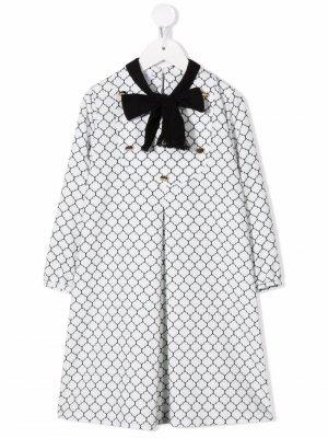 Tie-fastening long-sleeved dress Señorita Lemoniez. Цвет: белый