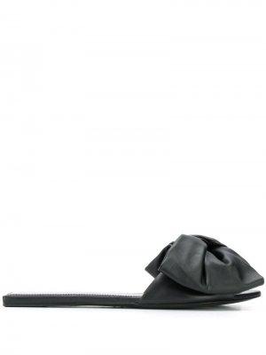 Сандалии с бантами Balenciaga. Цвет: черный