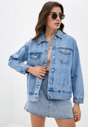 Куртка джинсовая Missguided. Цвет: голубой