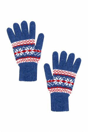 Перчатки мужские Finn-Flare. Цвет: голубой