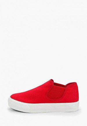 Слипоны Exquily. Цвет: красный