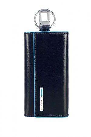 Ключница Piquadro. Цвет: синий